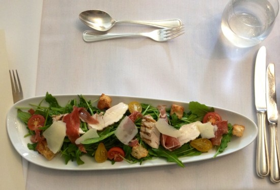 Chicken and proscuitto salad