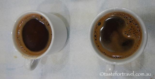 Greek coffee at To Kati Allo restaurant