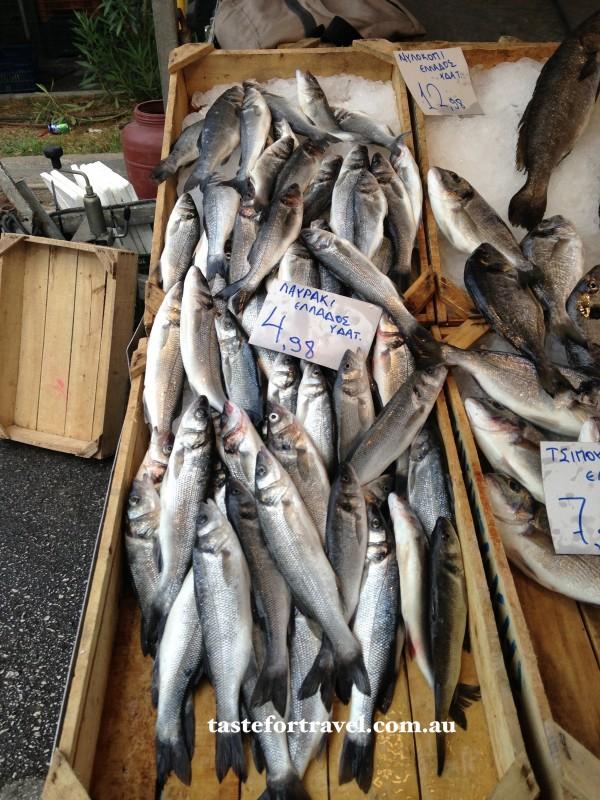 Fresh sardines at Glyfada market