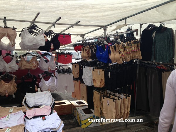 Underwear stall at the the Glyfada market