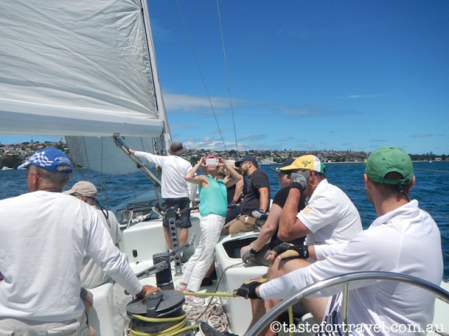 Sailing Sydney Harbour on Australia I