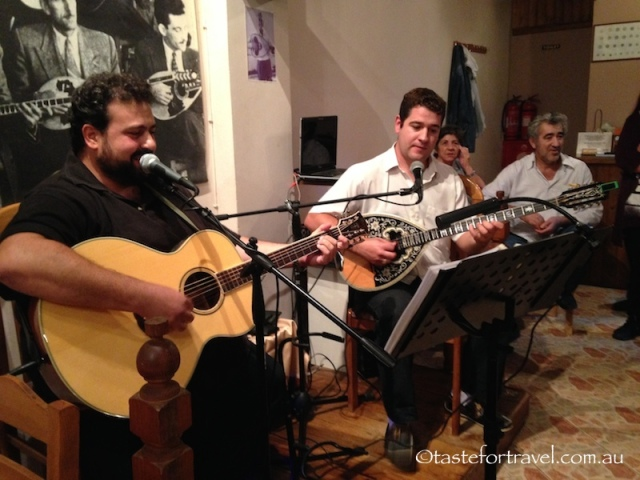 Alexi the bouzouki player, George on guitar and vocals