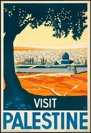 Palestine vintage travel posters