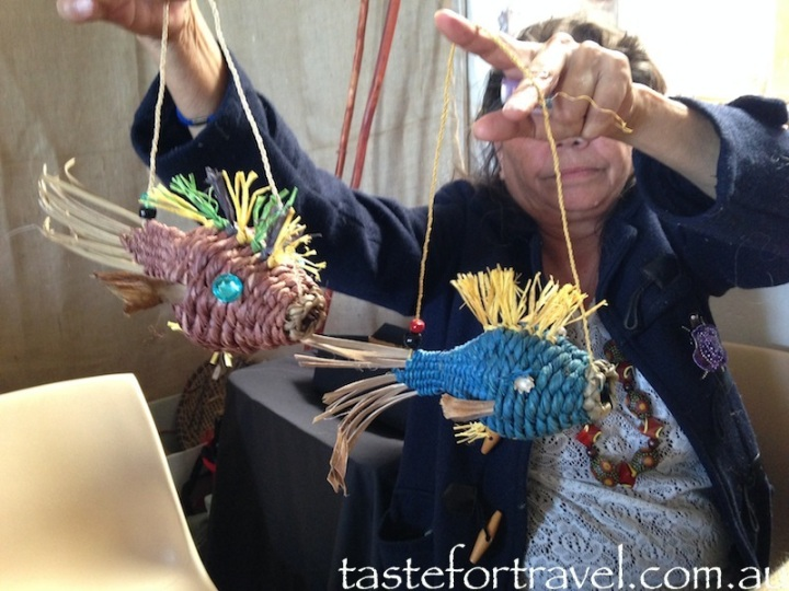 Weaver Phyllis with fish hangings