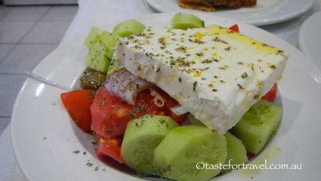 Horiatiki salata at To Kati Allo restaurant