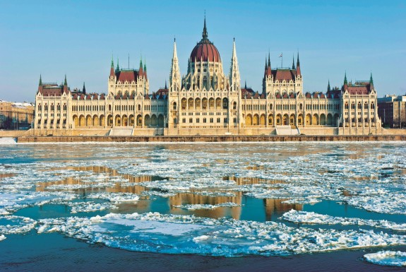 Budapest in winter: Hungarian Parliament Building