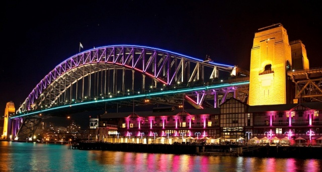 Sydney Harbour Bridge during the Vivid Festival