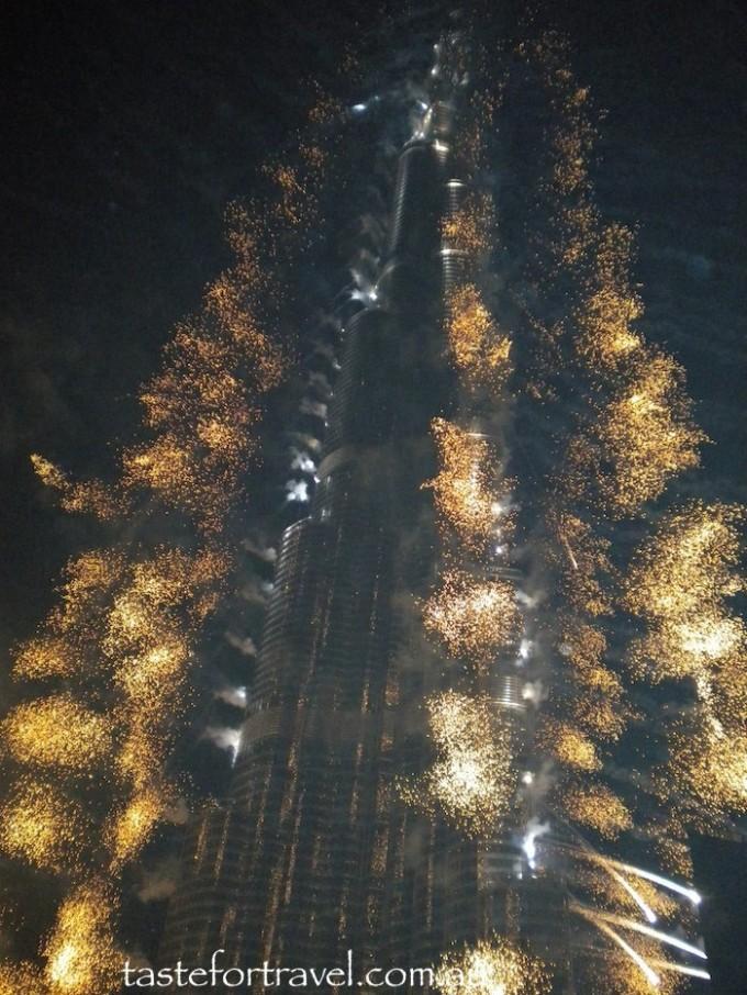 Burj Khalifa opening fireworks Jan 2010