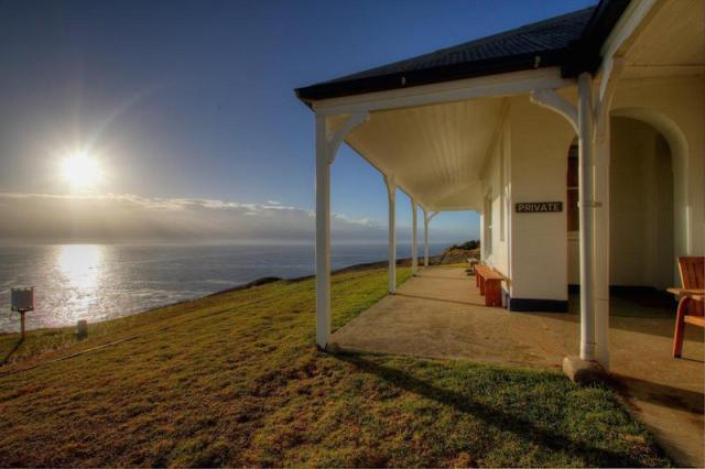 Montague Island lighthouse cottage at sunrise. Picture: John Morrell