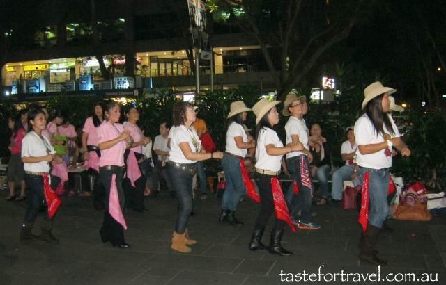 Line dancing in Singapore