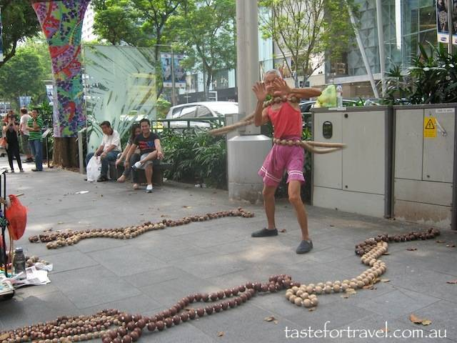 Street performer in Singapore