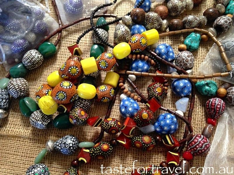 Gum nut bead necklaces by Cleonie Quayle