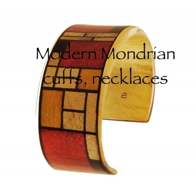 Mondrian Resin Cuff