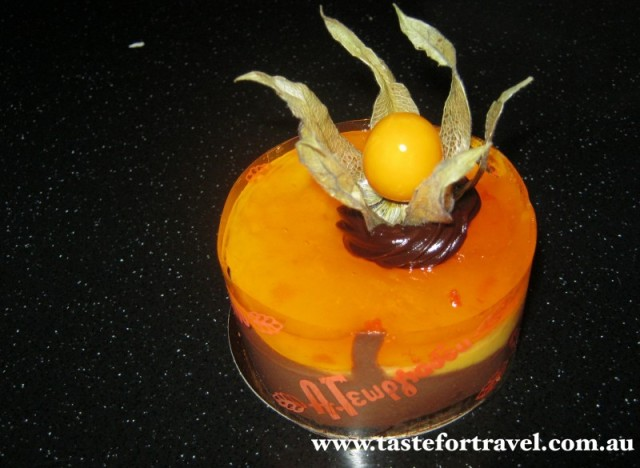 Orange choc mousse cake, Athens