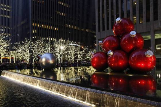 Christmas decorations in Manhattan, NYC