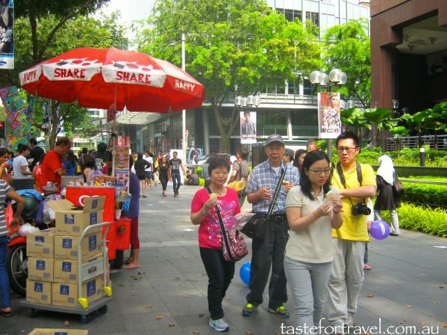 Shoppers on Orchard Road, Singapore