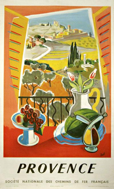 Provence travel poster