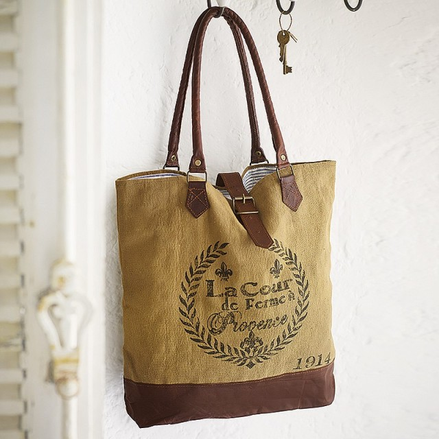 Provenal markets recycled bag