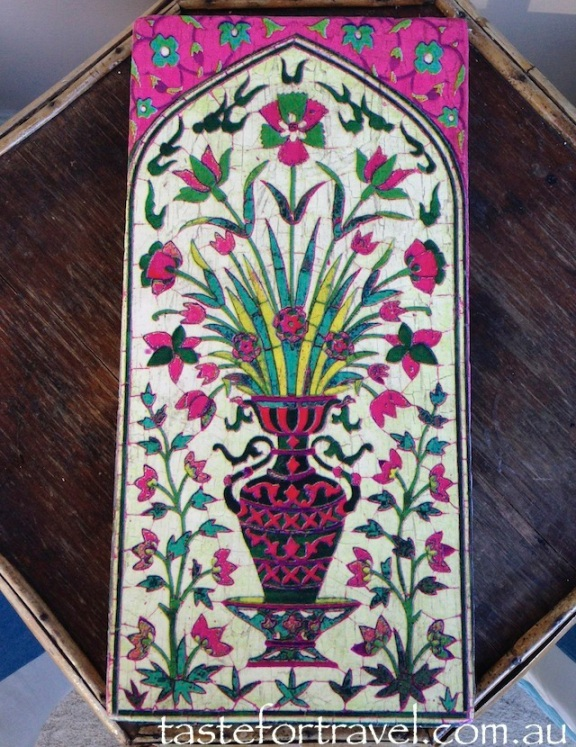 Persian tile at Mala Beads Austinmer