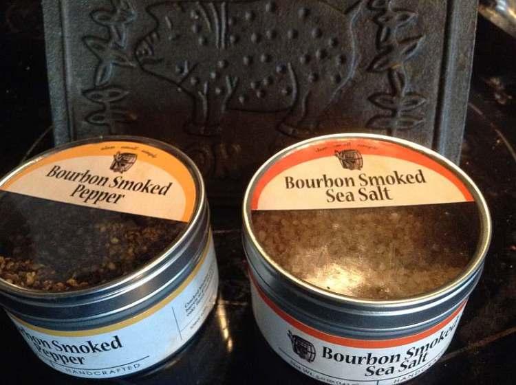 Bourbon Smoked Sea Salt and Pepper from Bourbon Barrel Foods in Louisville, Kentucky