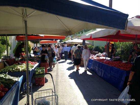 Xylokastron market, Greece