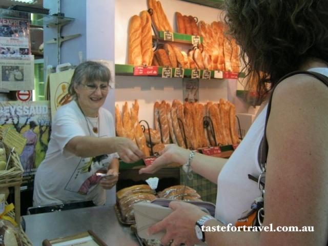 Buying bread in Arles