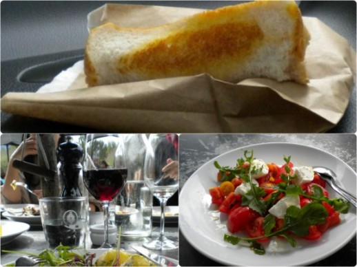 Arrowtown cheese roll, wine and food at Amisfield Winery