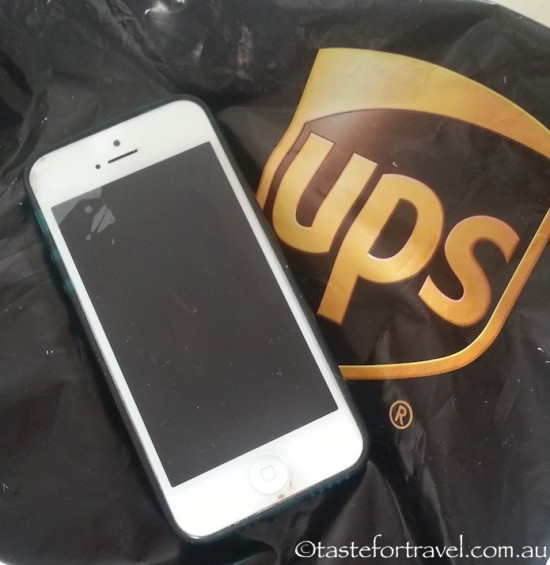 The iPhone which travelled with UPS