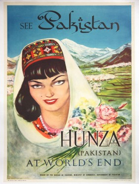 Pakistan vintage travel posters