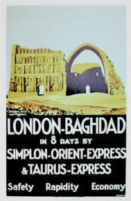 Orient Express travel poster