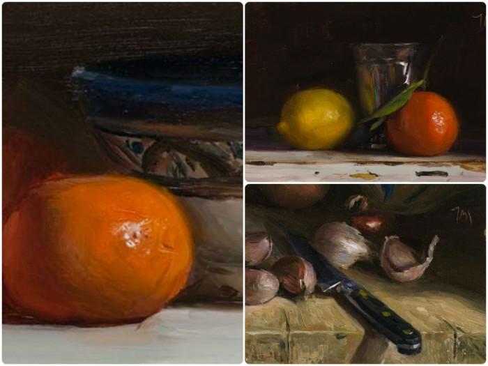 Three of Julian's paintings