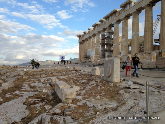 On the Acropolis, Taste for Travel