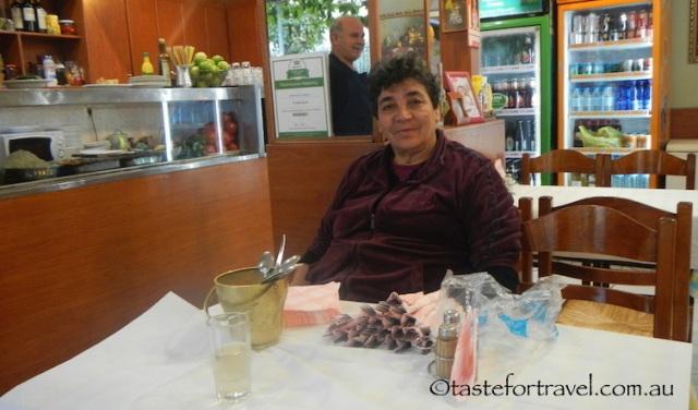 Leonidas and Ioanna at To Kati Allo restaurant