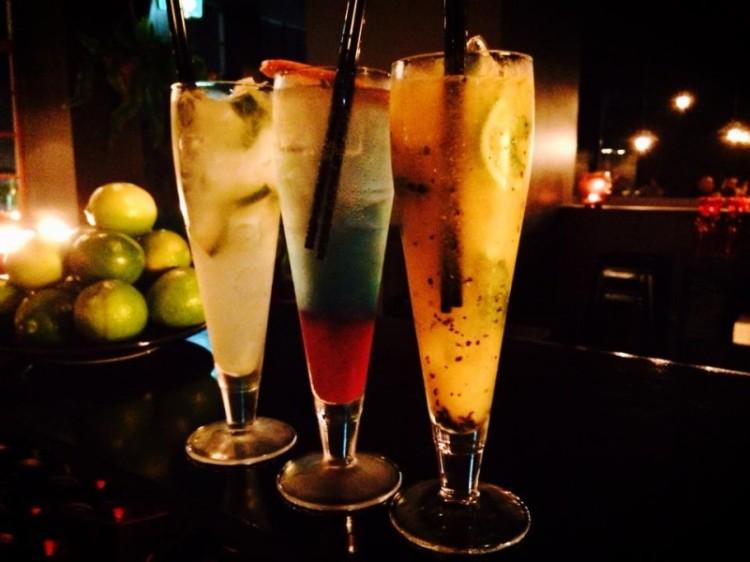Lime Caprioska (Vodka), Blue Galactic(Mezcal), Night of Passion (Mezcal)