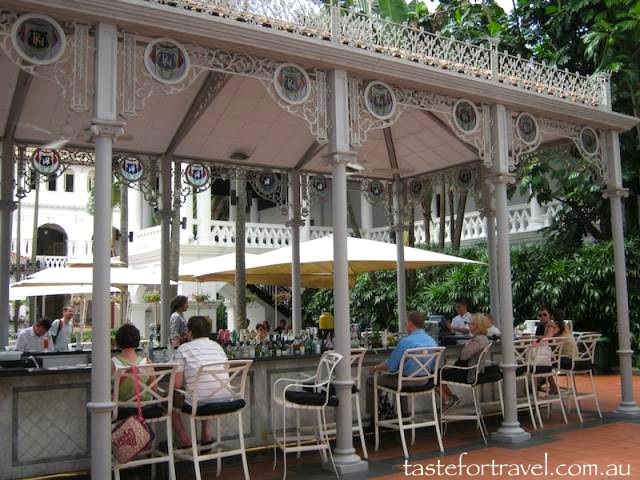 aspect of the courtyard bar, Raffles Hotel