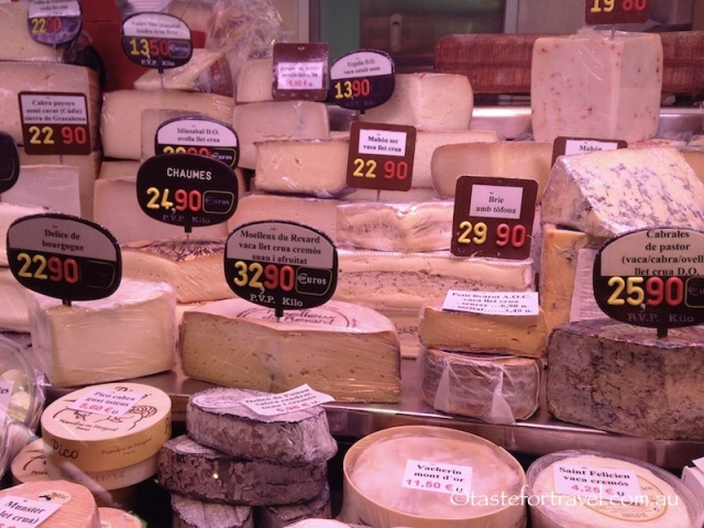 Cheese selection, Mercat de l'Abaceria Central